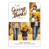 Personalized Thankgiving Photo Card - Thanksgiving Foliage - 5 x 7 Flat