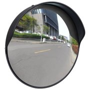 """Outdoor Convex Traffic Mirror PC Plastic Black 12"""" Wide Angle Security Convex PC Mirror Outdoor Road Traffic Driveway Safety"""
