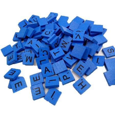 New Amusing 100 Wooden Scrabble Tiles Black Letters Numbers For Crafts Wood Alphabets BU ()