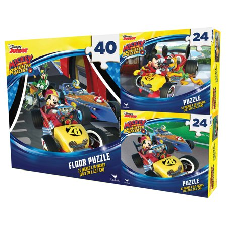 Disney's Mickey and the Roadster Racers - 3-Pack Puzzle Bundle Disney Mickey Mouse Jigsaw Puzzles