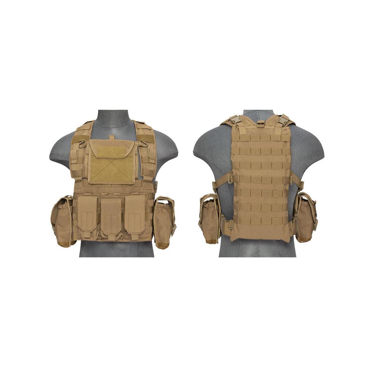 Click here to buy Alta CA-307 Modular Chest Rig PALS MOLLE Vest and Hydration Pack Slot by Altatac.