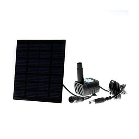 solar water pump power panel kit fountain pool garden watering. Black Bedroom Furniture Sets. Home Design Ideas