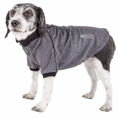 Pet Life ® Active 'Fur-Flexed' Relax-Stretch Wick-Proof Performance Dog Polo T-Shirt ()