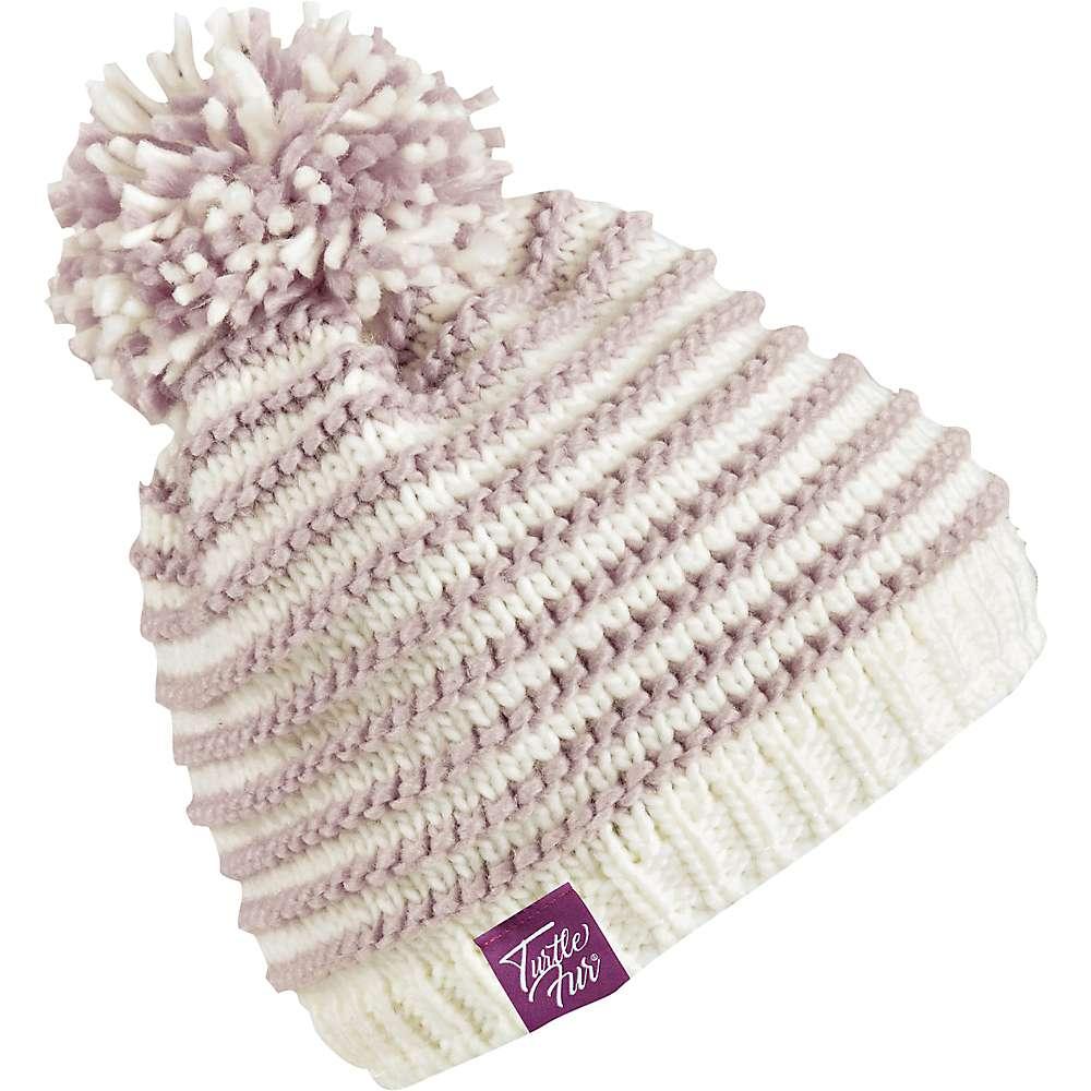 Turtle Fur Marcy Women's Ribbed Knit Fleece Lined Pom Winter Hat by Turtle Fur