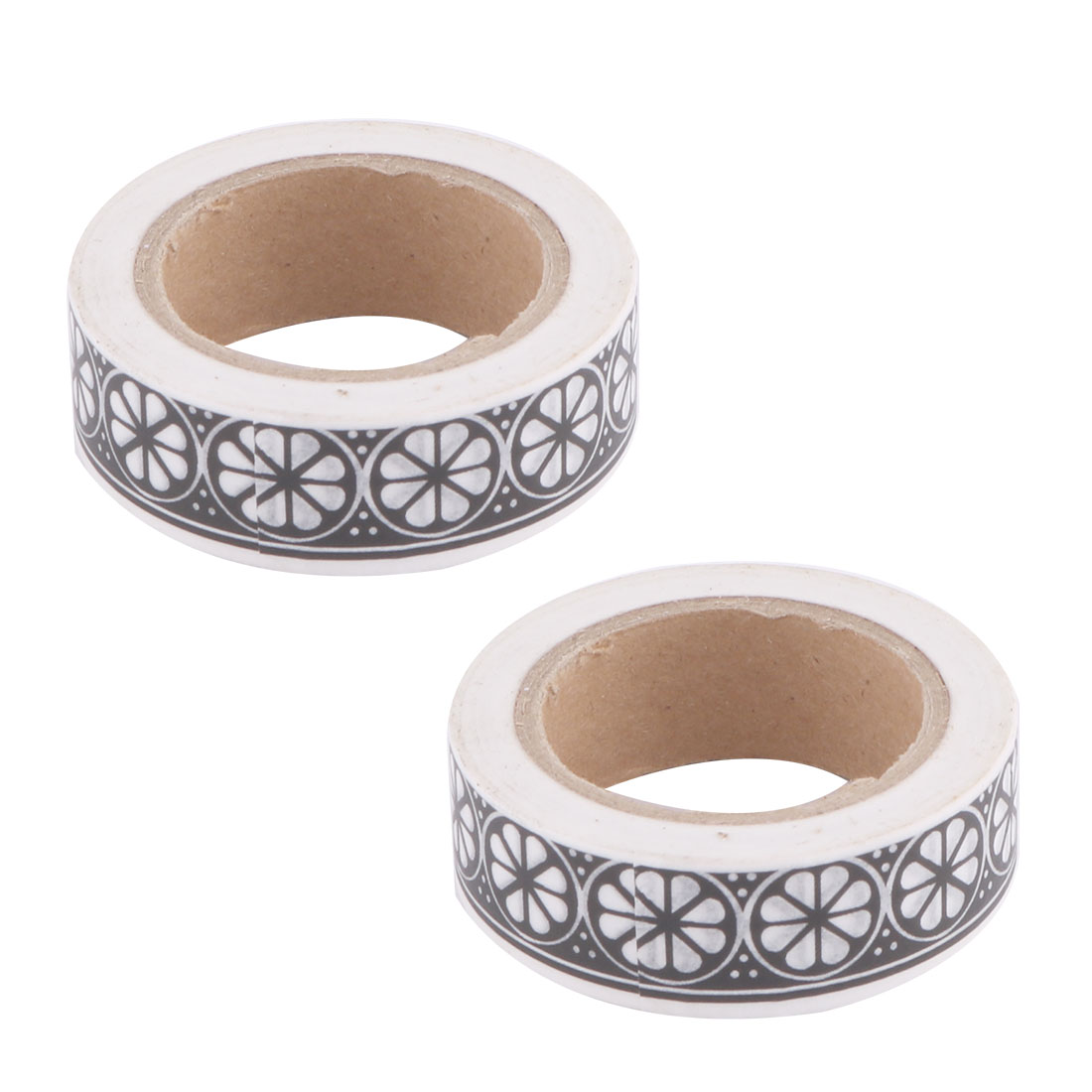 Household Festival Washi Paper Clover Pattern Decoration Tape 15mm x 10M 2 Pcs