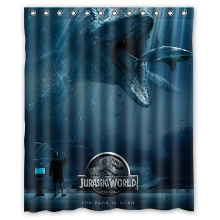 Ganma Jurassic World Font Dinasaur Anime Shower Curtain Polyester Fabric Bathroom Shower Curtain 60x72 inches ()