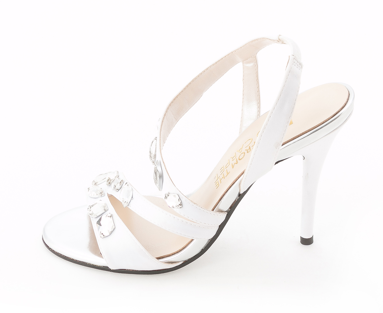 E! Live From The Red Carpet Womens GOLDEE Open Toe Formal Slingback Sandals