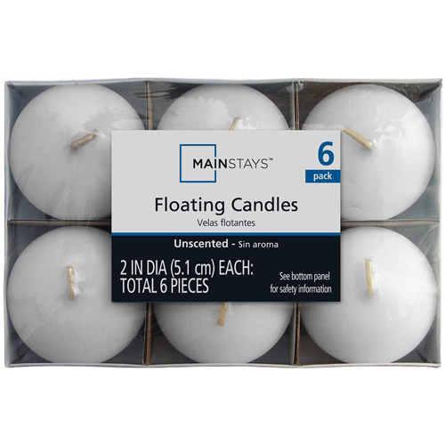 Mainstays Floaters, Unscented White, 6-Pack