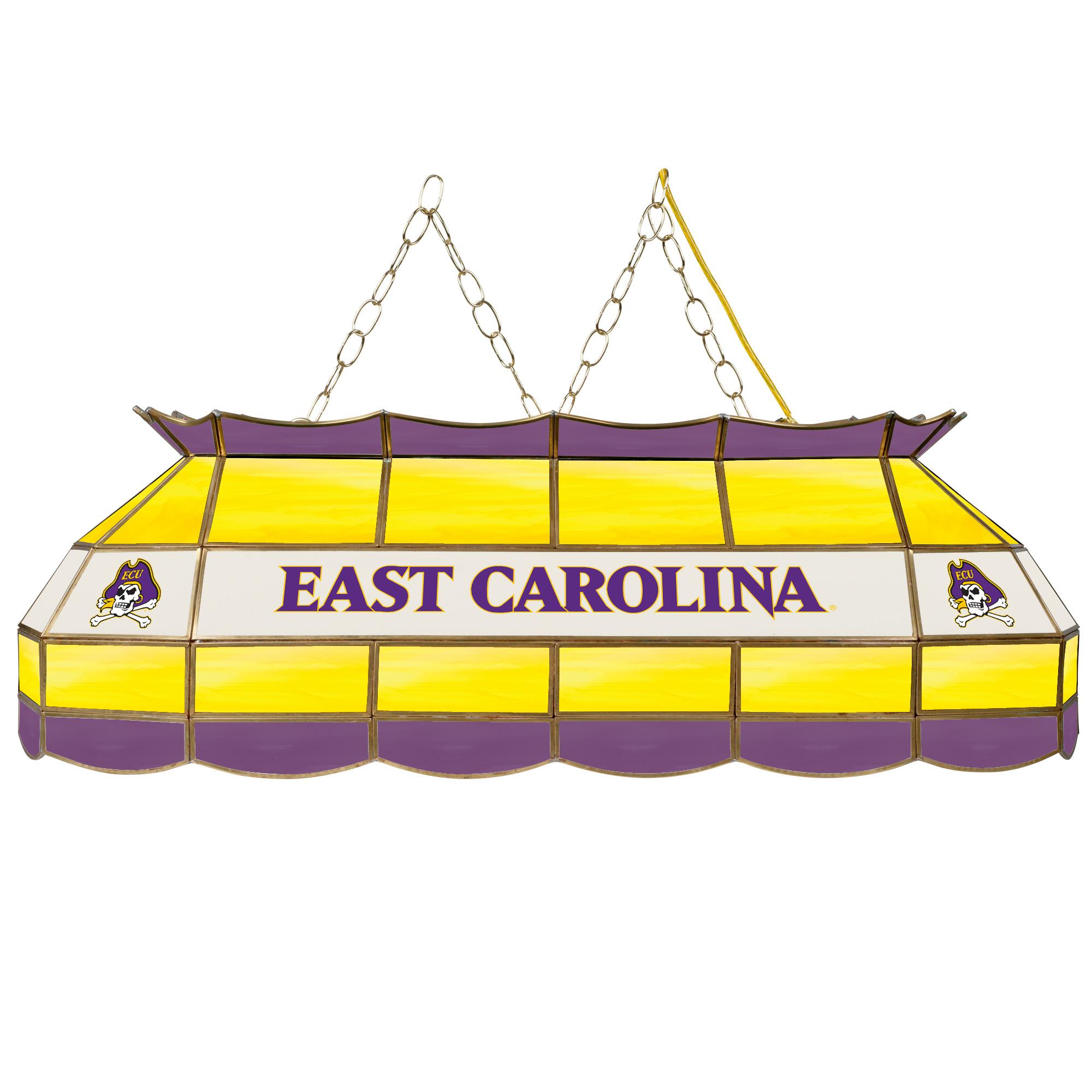 "NCAA East Carolina University 40"" Stained Glass Billiard Table Light Fixture"