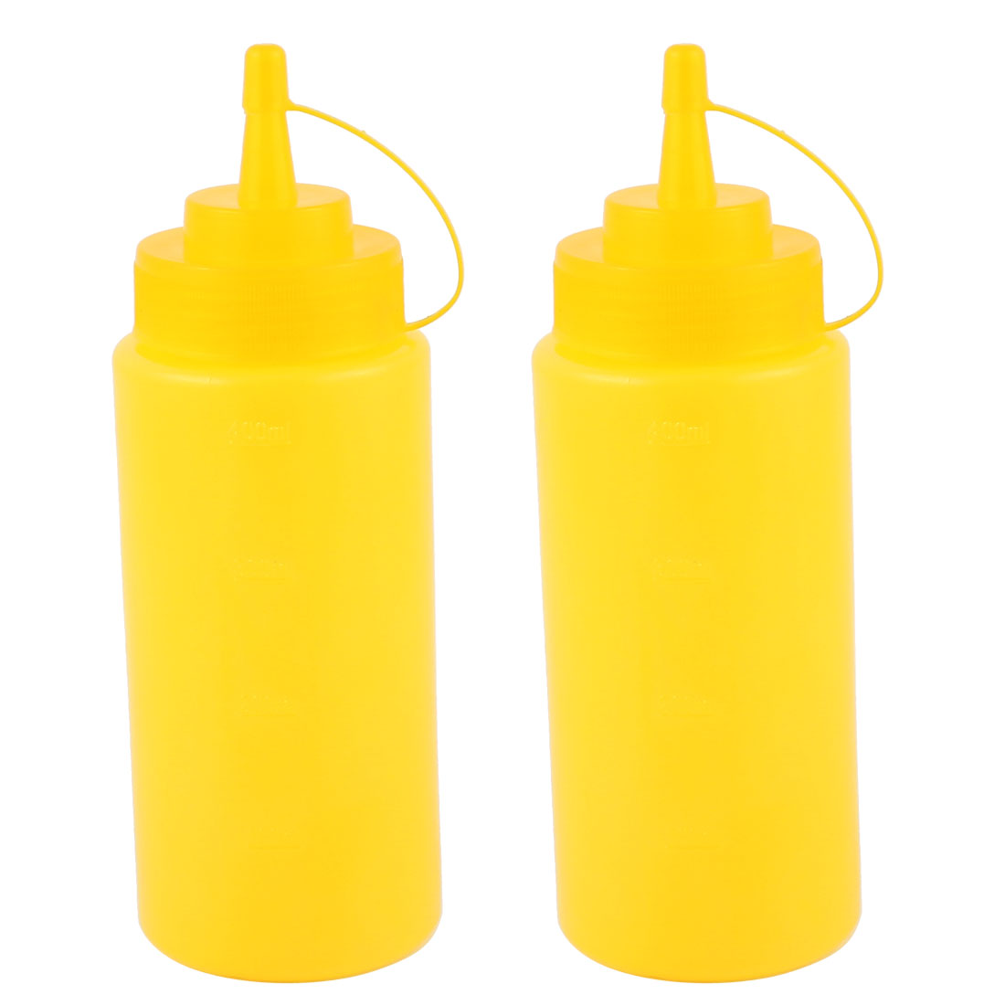 2Pcs 400ml 16oz Kitchen Food Squeeze Bottles Condiment Ketchup Mustard Oil Salt by