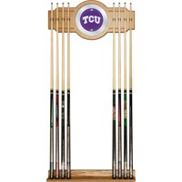 NCAA Texas Christian University Wood & Mirror Wall Cue Rack