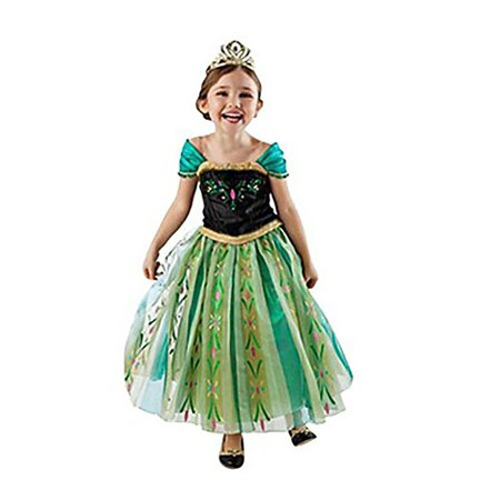 Asda Girls Halloween Costumes (Snow Queen Princess Elsa Anna Costumes Birthday Party Halloween Costume Cosplay Dress up for Little)