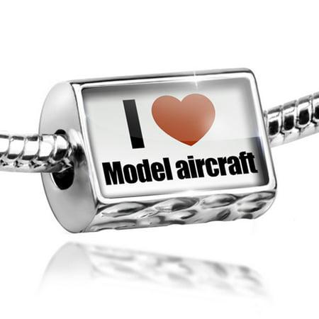 Bead I Love Model Aircraft Charm Fits All European Bracelets