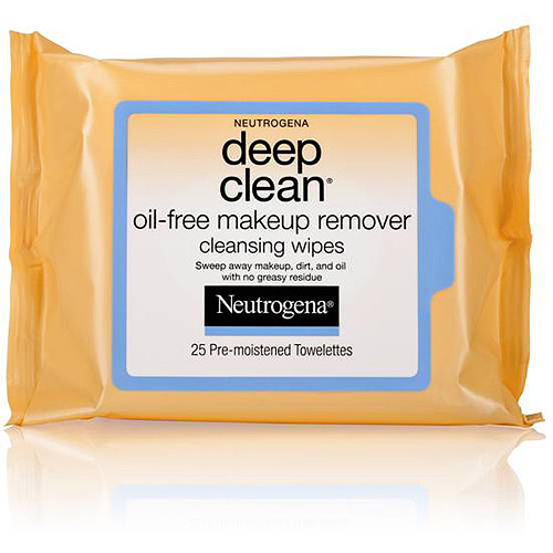 Neutrogena Oil-Free Deep Clean Makeup Removing Wipes, 25 count