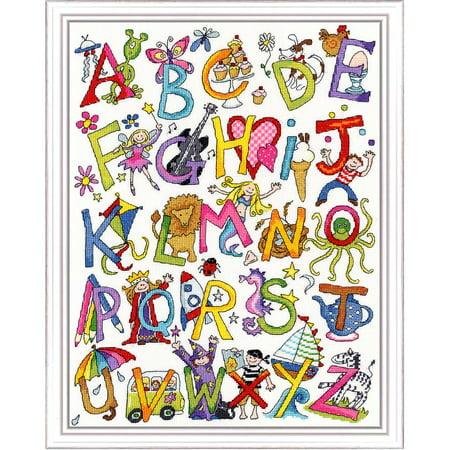 Alphabet Cross Stitch (Bothy Threads Alphabet Fun Counted Cross-Stitch Kit )