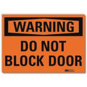 LYLE U6-1053-RD_10X7 Warning Sign,Do Not Block Door,10 in. W G2097630