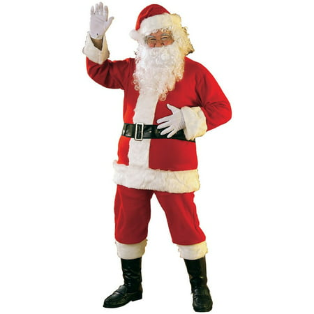 Flannel Santa Suit Adult Costume