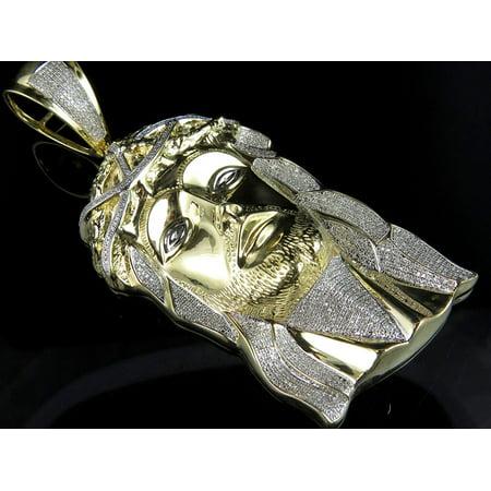 10k yellow gold jesus piece real diamond charm pendant 30ct 36 10k yellow gold jesus piece real diamond charm pendant 30ct 36 aloadofball Image collections