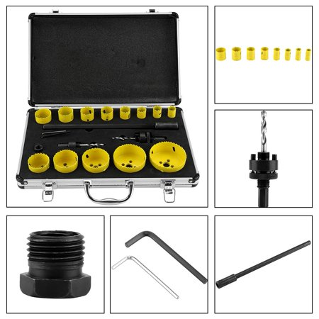 17Pcs Metal Circular Round Drill Cutting Steel Hole Saw Cutter Tool, Metal Hole Saw, Hole Saw