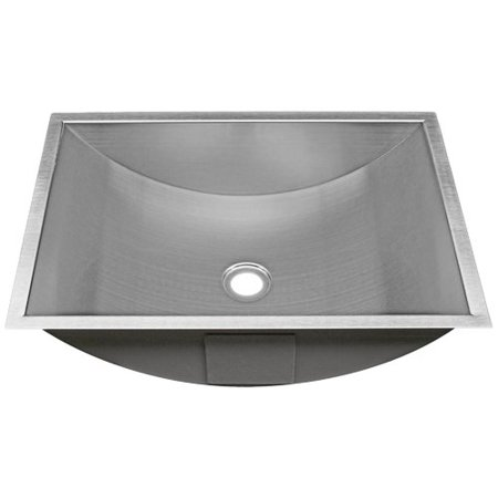Ticor sinks belfast series stainless steel rectangular - Square stainless steel bathroom sink ...
