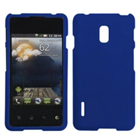 Insten Titanium Solid Dark Blue Phone Case for LG: US780 (Optimus F7), LG870 (Optimus F7) (Lg Optimus F7 Rubber Phone Case)