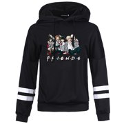 KABOER Fashion Women Men Japan Anime My Hero Academia Cool Characters Print Long Sleeve Hoodie My Hero Academia Casual Trendy Hooded Sweatshirt Friends Letter Print Cozy Pullover Tops