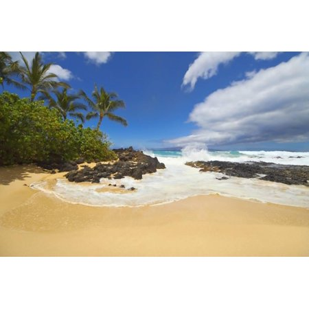Makena Cove Also Known As Secret Beach And Wedding Maui Hawaii Print Wall Art By Ron Dahlquist