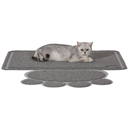 Ollieroo Premium Jumbo Size Cat Litter Mat Set XL Super Size 35 x 24 Inches Big Best Extra Large Scatter Control Kitty Litter Mats for Tracking litters Out of Cat litter Box Soft to Paws