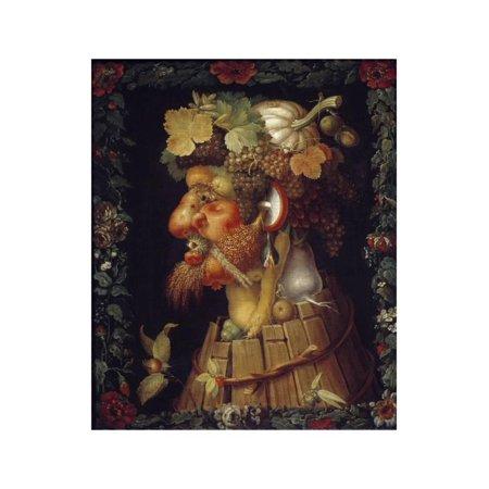 Autumn - by Giuseppe Arcimboldo Print Wall Art (Giuseppe Arcimboldo Autumn)