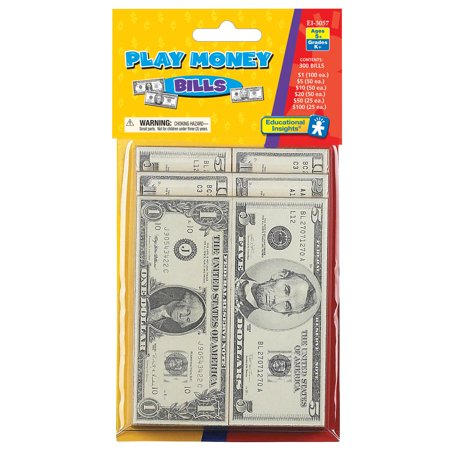 Educational Insights® Play Money Bills, Pack of 300