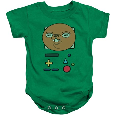 Adventure Time Boys' Bmo Mask Bodysuit Kelly Green