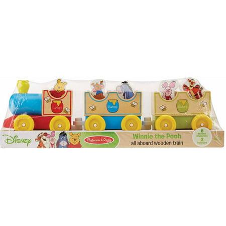 Disney Baby Disney Winnie the Pooh All Aboard Wooden Train - Walmart.com