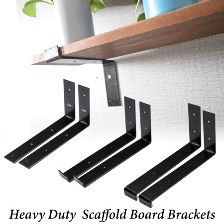 2 PCS 9.5 INCH Rustic Handcrafted Reclaimed Metal Wall Mount Shelf Brackets Heavy Duty Floating Boards Supporter Outdoor Heavy Duty Bracket