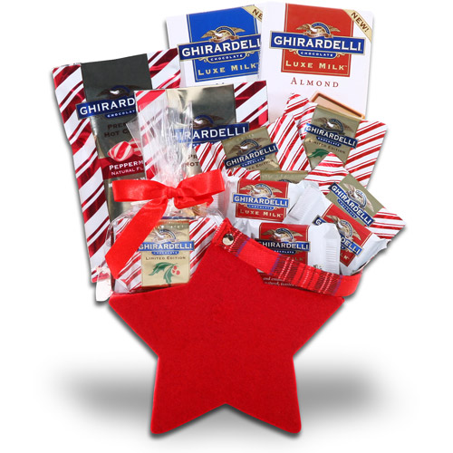 Alder Creek Ghirardelli Holiday Red Star Gift Set, 6 pc