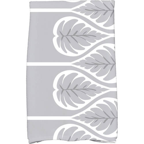 "Simply Daisy 16"" x 25"" Fern 1 Floral Print Kitchen Towel by E By Design"