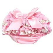 AUTCARIBLE Baby Ruffle Bloomers Cute Baby Lace Diaper Cover Newborn Flower Bow Tie Shorts Toddler fashion Summer Pants Clothing