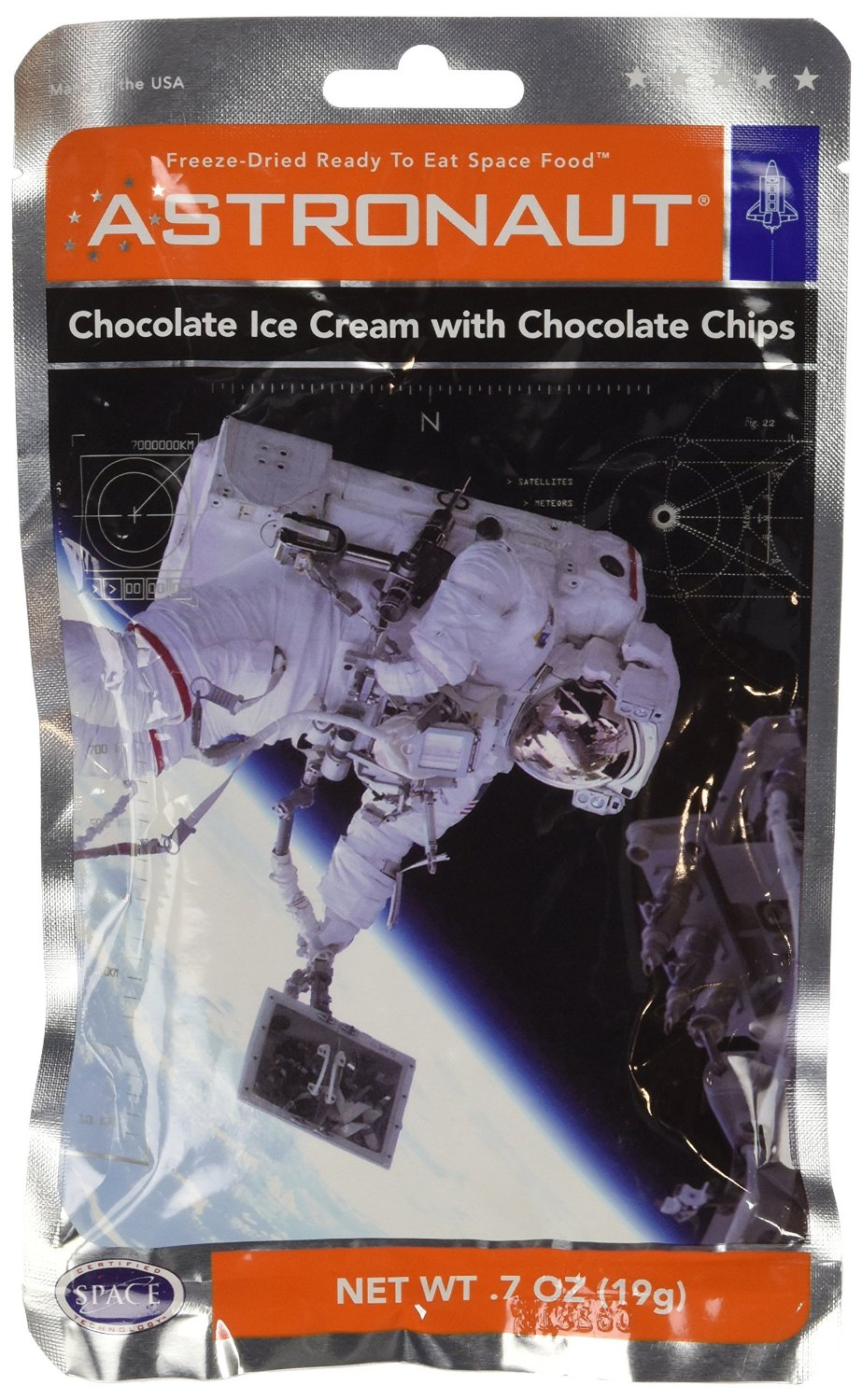 Astronaut Chocolate Ice Cream with Chocolate Chips 0.7oz by