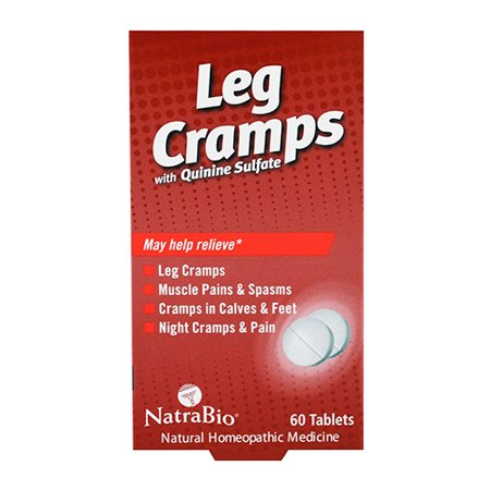 (NatraBio Leg Cramps with Quinine Sulfate Tablets, 60 Ea, 3 Pack)