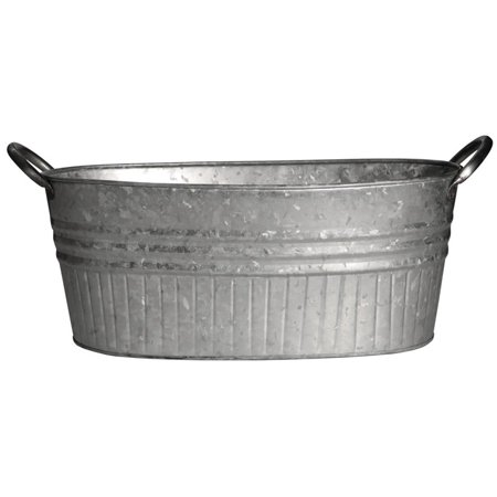 Robert Allen MPT01645 Oval Tub Planter, Metal, -
