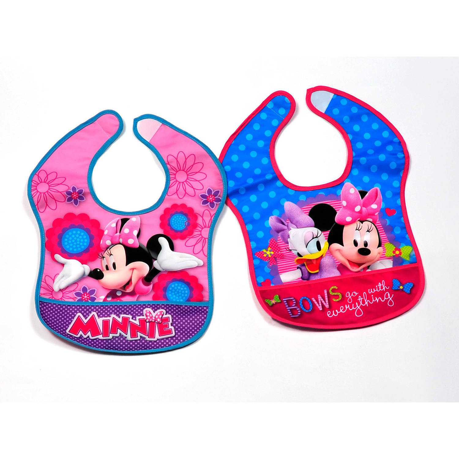 Disney Minnie Mouse Bibs Nylon, Pack of 2