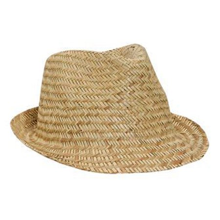 Kong Natural Straw - Otto Cap Natural Straw Fedora Hats - Hat / Cap for Summer, Sports, Picnic, Casual wear and Reunion etc