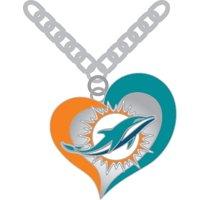 Redskins NFL Swirl Heart Necklace