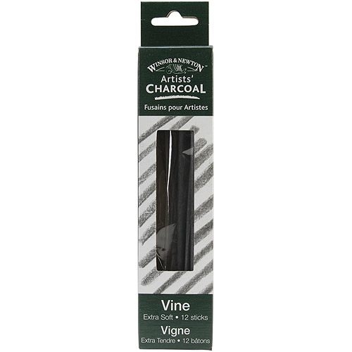 Winsor & Newtown Artist Vine Charcoal Sticks, 12Pk