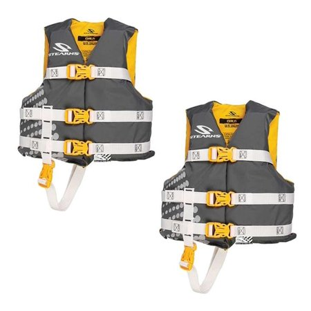 (2) COLEMAN Stearns Classic Series Kids Life Jacket Flotation Vests - 30-50Lbs