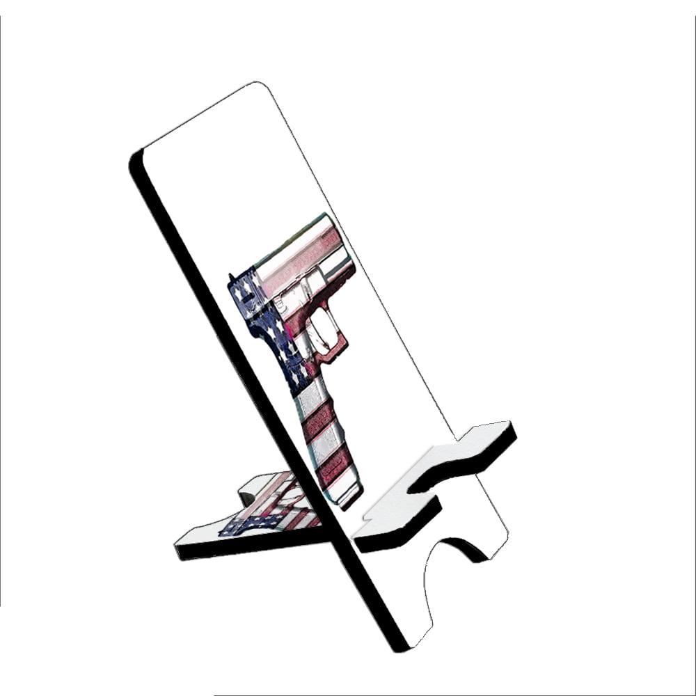 American Flag Gun Rights  - KuzmarK Folding Stand fits iPad Mini iPhone Samsung Galaxy