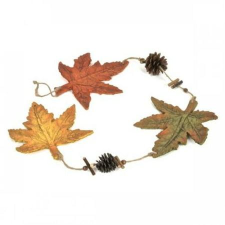 Loon Peak Decorative Hanging Paper Mache Fall Leaves Garland