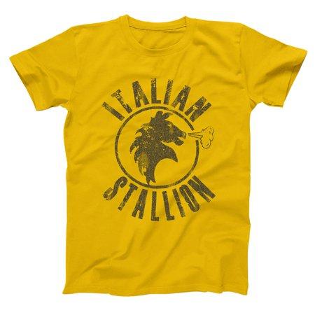 Water Stallion T-shirt - Italian Stallion Small Gold Basic Men's T-Shirt