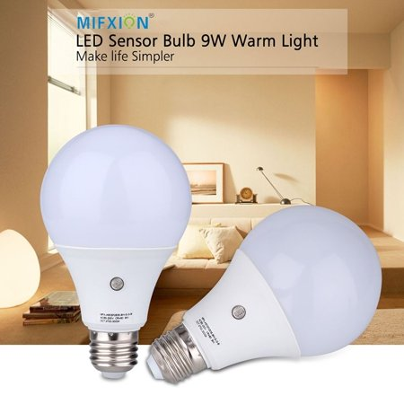 2pcs E27 7w 6000k Led Dusk To Dawn Sensor Light Bulbs