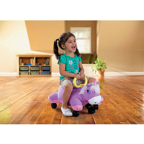 Little Tikes Pillow Racers Ride-On, Purple Unicorn