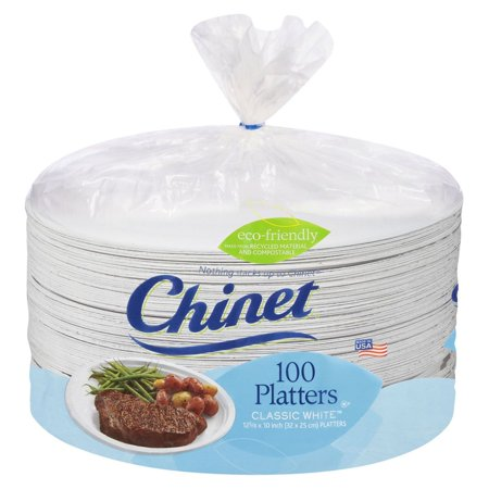 Product of Chinet Large Eco Friendly Platter, 100 ct. [Biz Discount] ()
